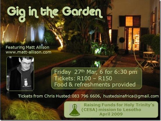gig in the garden