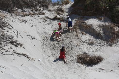 National sport: dune-climbing